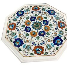 """18"""" Marble Table Top Inlay Mosaic Marquetry art Home decor"""