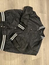 Elwood Mens Bomber Jacket Size Medium Lightweight  Black Nylon Button
