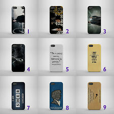 SHERLOCK TV SERIES/HOLMES/QUOTES HARD PHONE CASE COVER FOR IPHONE/SAMSUNG MODELS