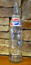 Vintage Pepsi-Cola 16 Fluid Ounce Fl Oz Glass Bottle