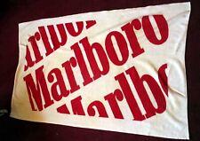"Vintage Marlboro Beach Bath Towel White Red Spellout 56""x33"""