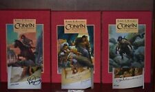 Signed Ltd Ed – Complete Conan of Cimmeria by Robert E Howard – 3 Signed Volumes