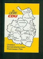 40 años cdu Rheinhessen-palatinado 1986 historia fotos documentos programa temas