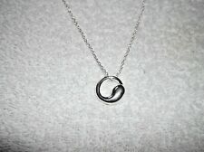 NEW Pretty SILVER Plated RING CIRCULAR NECKLACE 18 Inches