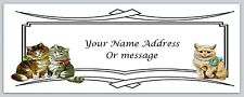 30 Personalized Return Address Labels Cute Cats Buy 3 get 1 free (c 9)