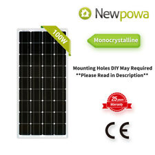 Newpowa 100W Watts 12V Monocrystalline Solar Panel Off Grid Kit for RV Boat mono