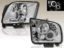 05-09 FORD MUSTANG GT CCFL DUAL LED PROJECTOR HEADLIGHTS CHROME CLEAR