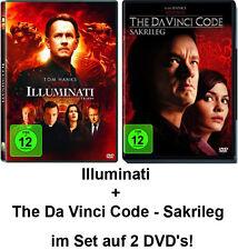 2 DVDs * DAN BROWN - THE DA VINCI CODE – SAKRILEG + ILLUMINATI IM SET # NEU OVP<