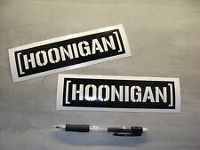 2x stickers decal HOONIGAN noir 18cm drift race gymkhana Ken Block A76-070