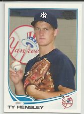 Ty Hensley New York Yankees 2013 Topps Pro Debut Minor League Card