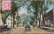 1920 Postcard: Chestnut Street & Cars - Salem, Mass, MA