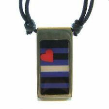 Gay Pride Pendant Leather Flag