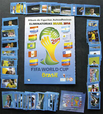 100% COMPLETE CDP WORLD CUP BRAZIL 2014 QUALIFIERS STICKER SET + NEW EMPTY ALBUM
