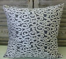 Connor Silver and Grey Cushion Cover 45 x 45