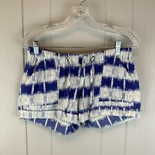 Mossimo Juniors Size 1 Blue White Stripe Lightweight Cotton Shorts Summer Casual