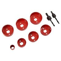 9pc Down Lights Hole Cutter Saw Holesaw Kit Set 22mm 44mm 54mm 57mm 60mm 67mm
