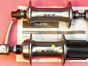 Shimano 105 HB/FH 5700 - 32.32 / 10 Speed Freehubs - NOS bicycle