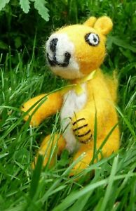 SALE Yellow Squirrel Fair Trade Ethical Felt Wool Animal Nepal Gift CLEARANCE