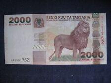 TANZANIA - 2003 ISSUE - 2,000 SHILINGI - LION -  P37 - UNC