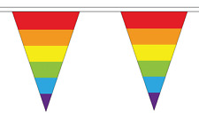Rainbow (LGBT) Triangle Bunting 12 flags on this 5 metre Long Bunting