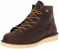 """Danner 15552-EE: Men's Wide Bull Run 6"""" Brown Cristy Work Boots"""