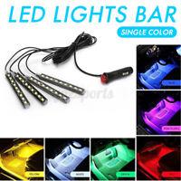 12V 9LED Car Interior RGB LED Strip Lights Atmosphere Decorative Neon Music