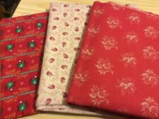 "3 pcs cotton fabric from America. 18x22"",22x22"",18x21.5"". Pack 4."
