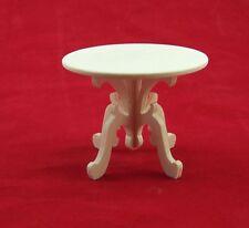 Runde Tisch aus Sperrholz, unbehandelt. Für 1:12 Puppenstuben 6,2x8 cm.