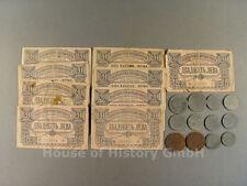Lot Münzen und Geldscheine, Bulgarien 1941, Mitbringsel eines deutschen Soldaten