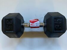 Weider Rubber Hex 35 Pound Single Dumbbell Weightlifting Exercise Weight DRH35