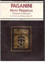 Paganini: Moto Ewiger Für Violine E Klavier Op.11 - Carl Fischer