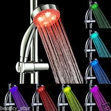 Romantic 7Color Glow Handheld LED Light Water Bath Home Bathroom Shower Head HOT