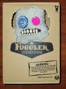 "RARE FUGGLER Funny Ugly Monster * Sasquoosh Fuzzy Grey White 9"" Plush"