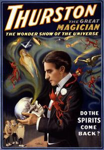 M9 Vintage Thurston Magic Magician Poster Art A1 A2 A3