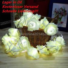Lichterkette mit 20 LED Batterie Hochzeit String Licht Rose Blume  YW