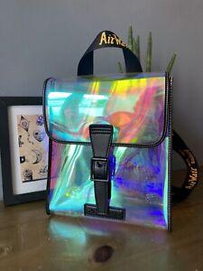 "Dr Martens 10"" X 7"" Mini Iridescent PU Transparent Backpack Rainbow New Bag"