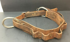 Vintage Leather BUHRKE Tools Linesman Tool Belt Bell Canada Systems RARE