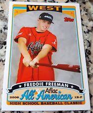FREDDIE FREEMAN 2006 Topps Aflac High School Rookie Card RC Braves 185 HRs HOT $