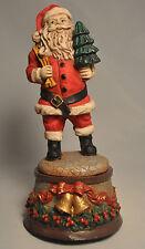 "Musical Collecible Santa Music Box - Plays ""Wish You A Merry Christmas"" - Resin"