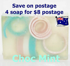 HANDMADE NATURAL TRANSPARENT SOAP ~  Choc Mint ~ 100GRAMS ~ 4 for $8 Postage