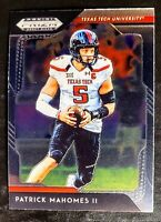 2019 PATRICK MAHOMES Panini Prizm Draft Picks #72  TEXAS TECH/KANSAS CITY CHIEFS