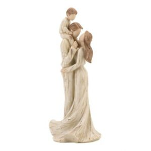 Mother, Father & Son Family Figurine Distressed Finish