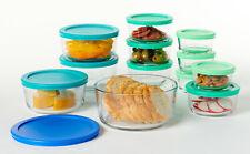 Glassware Food Storage Set 24 Piece Round Container Box With Lids Anchor Hocking