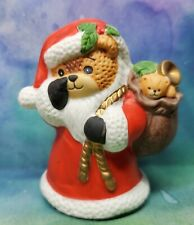 Enesco Lucy and Me Lucy Rigg Bear as Santa with finger at nose