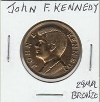 (N)  Token - John F. Kennedy - 29 MM Bronze