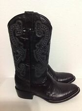 Men's Corral Circle G Cowboy Boots Black Teju Lizard Round Toe Sz 8.5 D EUC!