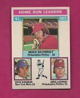 1976 TOPPS # 193 PHILLIES MIKE SCHMIDT HOME RUN LDR EX+  CARD (INV# A1987)