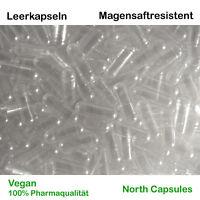 Magensaftresistente Leerkapseln - Größe 0 - VEGAN - 100% Pharmaqualität - TR