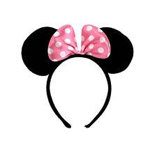 Women Girls Minnie Mouse Ears Headband Xmas Nights Kids Mickey Party Headpiece