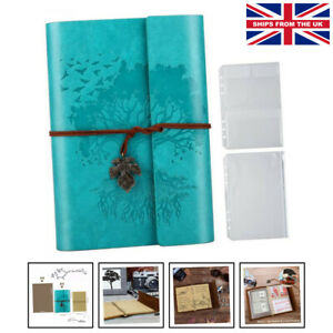 PU Leather Journal Notebook, Blank Pages Refillable Vintage Sketchbook Travel...